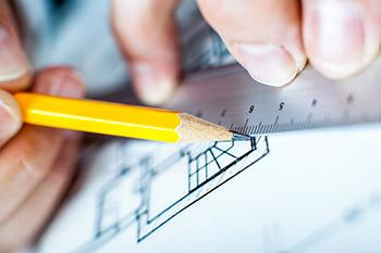 régle et crayon plan
