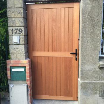 Porte d'entrée exterieur bois