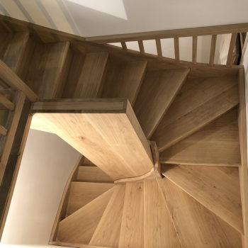Escalier colimasson en bois