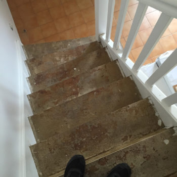 Escalier en bois renovation
