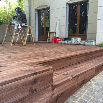 Amenagement terrasse exterieur bois